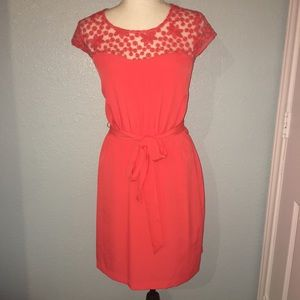 Guess Slip On Embroidered Dress Tie Waist Stretch